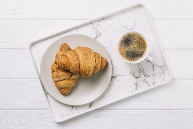 Croissant alla crema di caffè